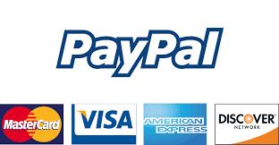 PayPal: Visa, MasterCard, AMEX, Discover